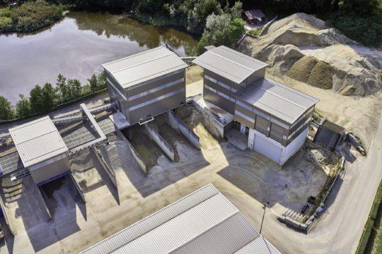 Industriefotografie, Luftbildfotografie, Baustoffgewinnung, Schweiz