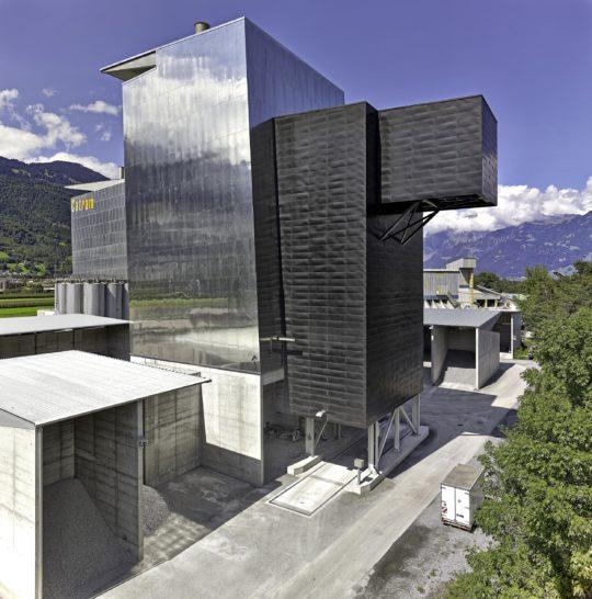 Industriefotografie, Ammann, Schweiz, Catram, Asphaltmischanlage