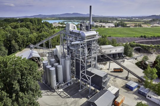 Industriefotografie, Luftbildfotografie, Asphaltmischanlage, Benninghoven