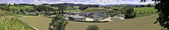Panoramafotografie, Industriefotografie, Baustoffgewinnung, Schweiz