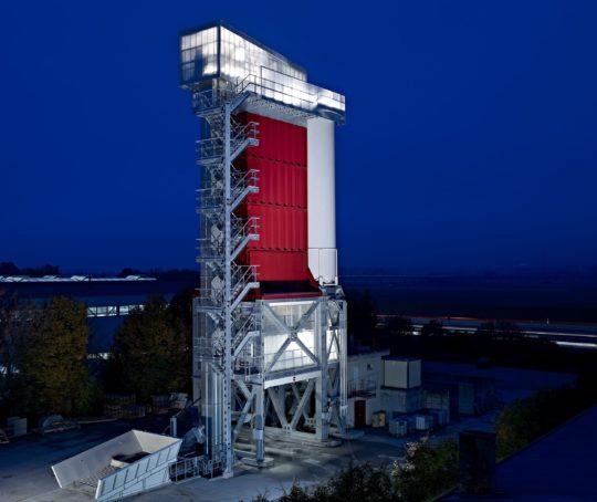 Twilightfotografie, Industriefotografie, Betonmischanlage, Ammann, Schweiz